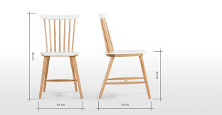 deauville chair ash and white  madecom