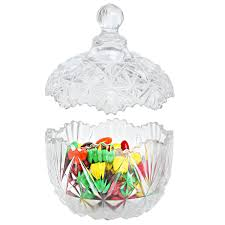Decorative Glass Candy Jars Amazon Multipurpose Antique Design Glass Candy Jar with Lids 48