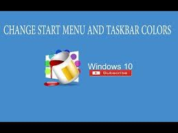 Windows 10 Color Scheme 26 Windows 10 Change Taskbar And Start Menu Colors Windows 10