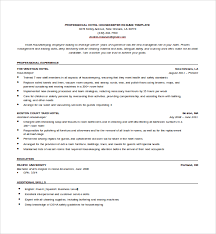 Housekeeping Resume Cool 60 Sample Housekeeping Resumes Sample Templates
