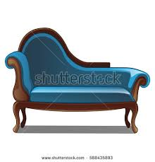 blue vintage sofa furniture for interior style isolated on a white background cartoon cartoon sofa chair s48 chair