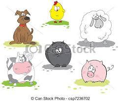 domestic animals clipart. Delighful Domestic Set Of Domestic Animal For Domestic Animals Clipart Can Stock Photo