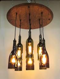 wine bottle lighting. 9 light wine bottle u0026 barrel top chandelier ceiling fixture repurposed restaurant bar dining room lighting