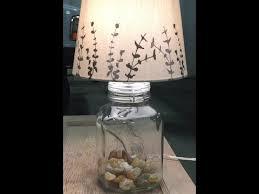 DIY glass bottle table lamp