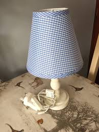 laura ashley children s blue and cream bedside lamp