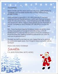 Free Letter From Santa Word Template Letter From Santa Template Word Letters From Santa North