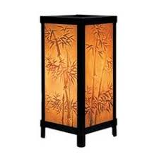 bamboo motif lithophane accent lamp asian style lighting