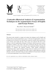the argumentative essay argumentative essay outline google docs  contrastive rhetorical analysis of argumentation techniques in the contrastive rhetorical analysis of argumentation techniques in the