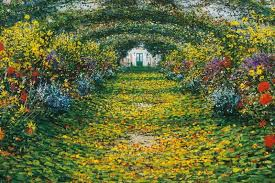 claude monet garden. Wonderful Garden Garden At Giverny Arches 1900 On Claude Monet T