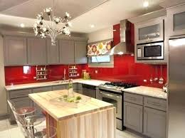 red glass tile backsplash red glass tile marvelous kitchens with glass tile new red black red