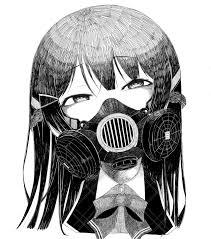 ガスマスク女子イラスト集16枚顔を覆う無機質な装置からただよう異形