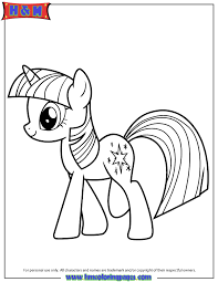Small Picture Hasbro My Little Pony Twilight Sparkle Coloring Page H M