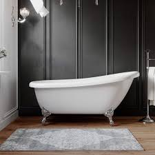 67 inch acrylic slipper clawfoot tub with chrome feet miller 01