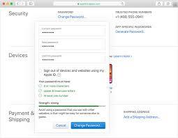 change your apple id pword apple