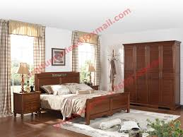 Solid Bedroom Furniture Sets Country Style Solid Wood Bed In Wooden Bedroom Furniture Sets