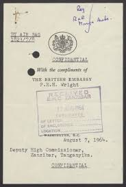 Confidential Cover Sheet From P R H White To Deputy High
