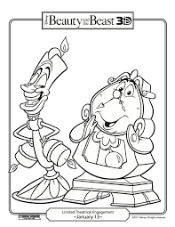 Fun Stuff Disneys Beauty And The Beast Coloring Pages Carrie