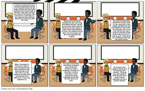 i have a job interview job interview storyboard by 94bae4ff