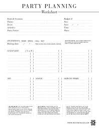 Catering Planning Template