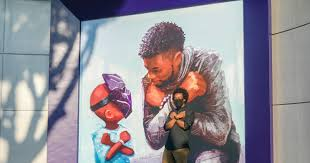 Chadwick Boseman mural unveiled at Downtown Disney - Los Angeles Times