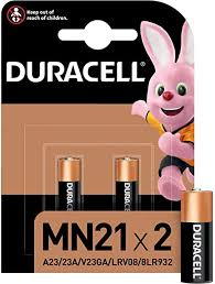 <b>Duracell</b> Specialty Alkaline <b>MN21</b> Battery 12 V, Pack of 2 (A23 / 23A ...