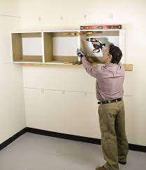 how to hang diy garage cabinets