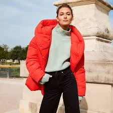 h m padded jacket with hood