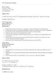 Cnc Programmer Resume Samples