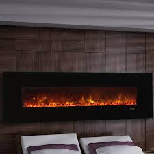 clx series ambiance custom linear delux wall mount electric fireplace