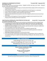 Controller Financial Resume Example