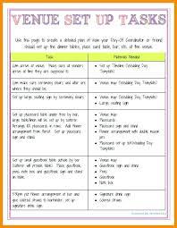 Wedding Coordinator Checklist Day Of Wedding Coordinator Checklist Timeline Template
