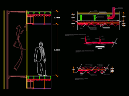 curtain wall details dwgautocad drawing
