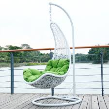 Furnitures:Inspiring Hanging Furniture With Cool White Rattan Chair  Inspiring Hanging Furniture With Cool White