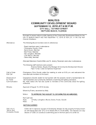 MINUTES COMMUNITY DEVELOPMENT BOARD SEPTEMBER 12, 2018 AT 6:00 P.M.