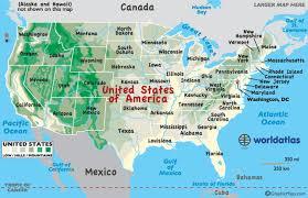 United States Map Of The World United States Map Worldatlas Com