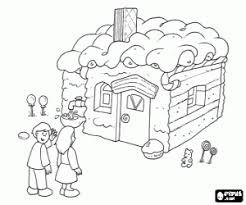Kleurplaat De Kinderen En De Chocolade Huis Kleurplaten