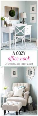 Fabulous rustic window nook ideas Decorating Ideas Home Cozy Office Nook Feminine Home Office Organized Home Office Small Office Imlconferenceorg Cozy Office Nook Abby Lawson