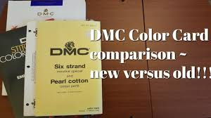 Dmc Color Chart 2018 Printable Flosstube 188 Dmc Color Card Comparison New Versus Old