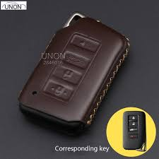 hot deal us 8 60 for 4ons leather remote control car keychain key fob cover case for lexus rx270 nx200 auto smart key car styling