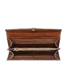 designer leather fold over purse