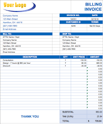 Invoice Template Excel Microsoft Free Excel Invoice Templates Smartsheet Business