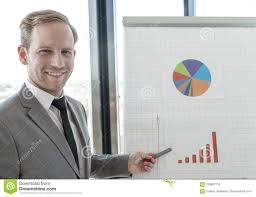 How To Make A Flip Chart Presentation Presentation Of Diagrams At Flip Chart Stock Photo Image