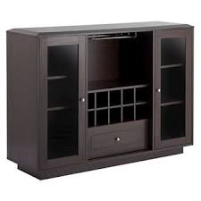 furniture buffet. candie modern multi-storage dining buffet with glass cabinets espresso - homes: inside + furniture