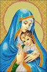 Вышивкой крестом мадонна с младенцем 165