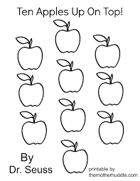 Ten Apples Up On Top Coloring