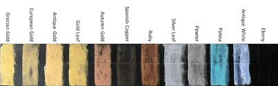 Guilding Paste Color Chart Bitterroot Frames