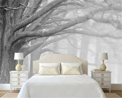 Tree Design Wallpaper Living Room Online Get Cheap Black White Tree Wallpaper Aliexpresscom