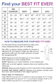 Waist Size Conversion Chart Plus Size Clothing Size Chart Find Your Perfect Fit