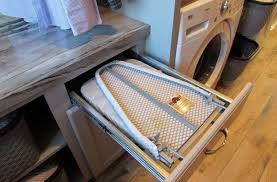 Drawer ironing board - pull and fold