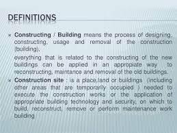 building construction class definitions 4